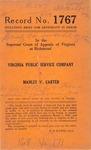 Virginia Public Service Company v. Manley W. Carter