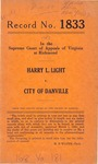Harry L. Light v. City of Danville