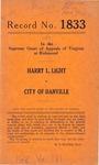 Harry L. Light v. City of Danville