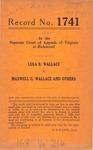 Lula B. Wallace v. Maxwell G. Wallace, et al.