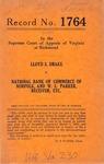 Lloyd S. Drake v. National Bank of Commerce of Norfolk, and W. L. Parker, Receiver