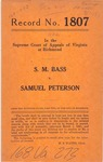 S. M. Bass v. Samuel Peterson