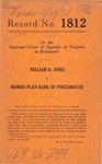 William B. Jones v. Morris Plan Bank of Portsmouth