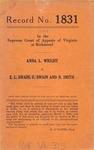 Anna L. Wright v. E. L. Swain, Edward Swain and Nelson Smith