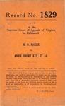 M. D. Magee v. Annie Short Key, et al.