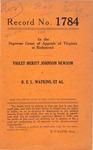 Violet Meritt Johnson Newsom v. R. E. L. Watkins, et al.