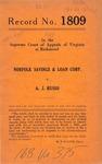 Norfolk Savings & Loan Corporation v. A. J. Russo
