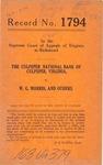 The Culpeper National Bank of Culpeper, Virginia v. W. G. Morris, et al.