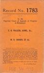 Elizabeth Riley Walker, Administratrix, etc. v. Millesia O. Crosen, et al.