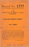 Glens Falls Indemnity Company v. Ray S. Harris
