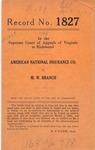 American National Insurance Company v. M. W. Branch