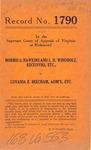 Morris S. Hawkins and L. H. Windholz, Receivers, etc. v. Luvania E. Beecham, Administratrix, etc.