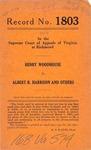 Henry Woodhouse v. Albert R. Harrison, et al.