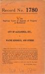 City of Alexandria v. Wayne Kendrick, et al.