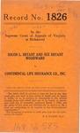 Solon L. Bryant and Sue Bryant Woodward v. Continental Life Insurance Company, Inc.