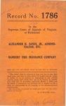 Alexander H. Sands, Jr., Administrator of the Estates of J. M. Livingston and J. S. Livingston, deceased v. Bankers' Fire Insurance Company