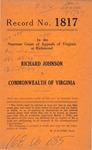 Richard Johnson v. Commonwealth of Virginia