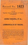 George Rohanna, et al. v. Commonwealth of Virginia