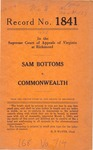Sam Bottoms v. Commonwealth of Virginia
