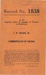 J. W. Nelson, Jr. v. Commonwealth of Virginia