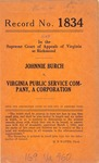 Johnnie Burch v. Virginia Public Service Company