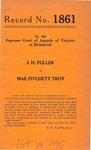 J. H. Fuller v. Mae Fitchett Troy