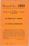 Sol Chenman and L. Chenman v. P. W. Paxson's Administrator