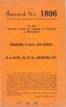 Norborne W. Hale, et al. v. B. A. Davis, Jr., et al., Receivers, etc.