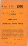 Edward Hunter v. Long's Baggage Transfer Company