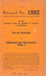 City of Lynchburg v. Chesapeake and Ohio Railway Company