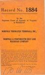 Norfolk Tidewater Terminals, Inc. v. Norfolk & Portsmouth Belt Line Railroad Company