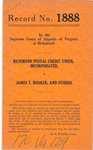 Richmond Postal Credit Union, Inc. v. James T. Booker, et al.