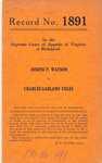 Joseph P. Watson v. Charles Garland Coles
