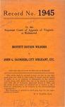 Moffett Dotson Wilborn v. John G. Saunders, City Sergeant, etc.