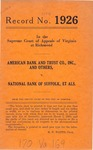 American Bank and Trust Co., Inc., et al. v. National Bank of Suffolk, et al.