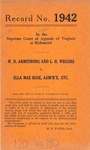 W. D. Armstrong and L. H. Wiggins v. Ella Mae Rose, Administratrix, etc.