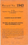 Elizabeth Roller Bottimore v. The First and Merchants National Bank of Richmond, et al.