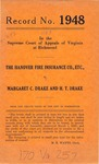 The Hanover Fire Insurance Company v. Margaret C. Drake and H. T. Drake