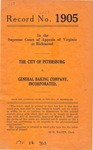 The City of Petersburg v. General Baking Company, Inc.