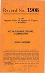 Aetna Insurance Company v. L. Louise Carpenter