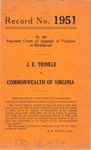 J. E. Trinkle v. Commonwealth of Virginia