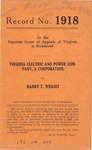 Virginia Electric and Power Company v. Harry T. Wright
