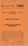 James Meade Ferguson v. Virginia Tractor Company, Inc.