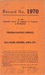 Virginian Railway Company v. Ella Daniel Rodgers, Administratrix, etc.