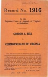 Gordon A. Bell v. Commonwealth of Virginia