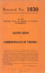 Easter Green v. Commonwealth of Virginia