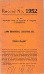 Anna Krikorian, Executrix, etc. v. Thomas Dailey