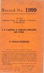 A. N. Campbell & Company, et al. v. W. Donald Messenger