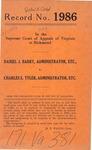 Daniel J. Barry, Administrator, etc. v. Charles E. Tyler, Administrator, etc.