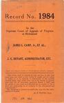 James L. Camp, Jr., et al. v. J. G. Bryant, Administrator, etc.